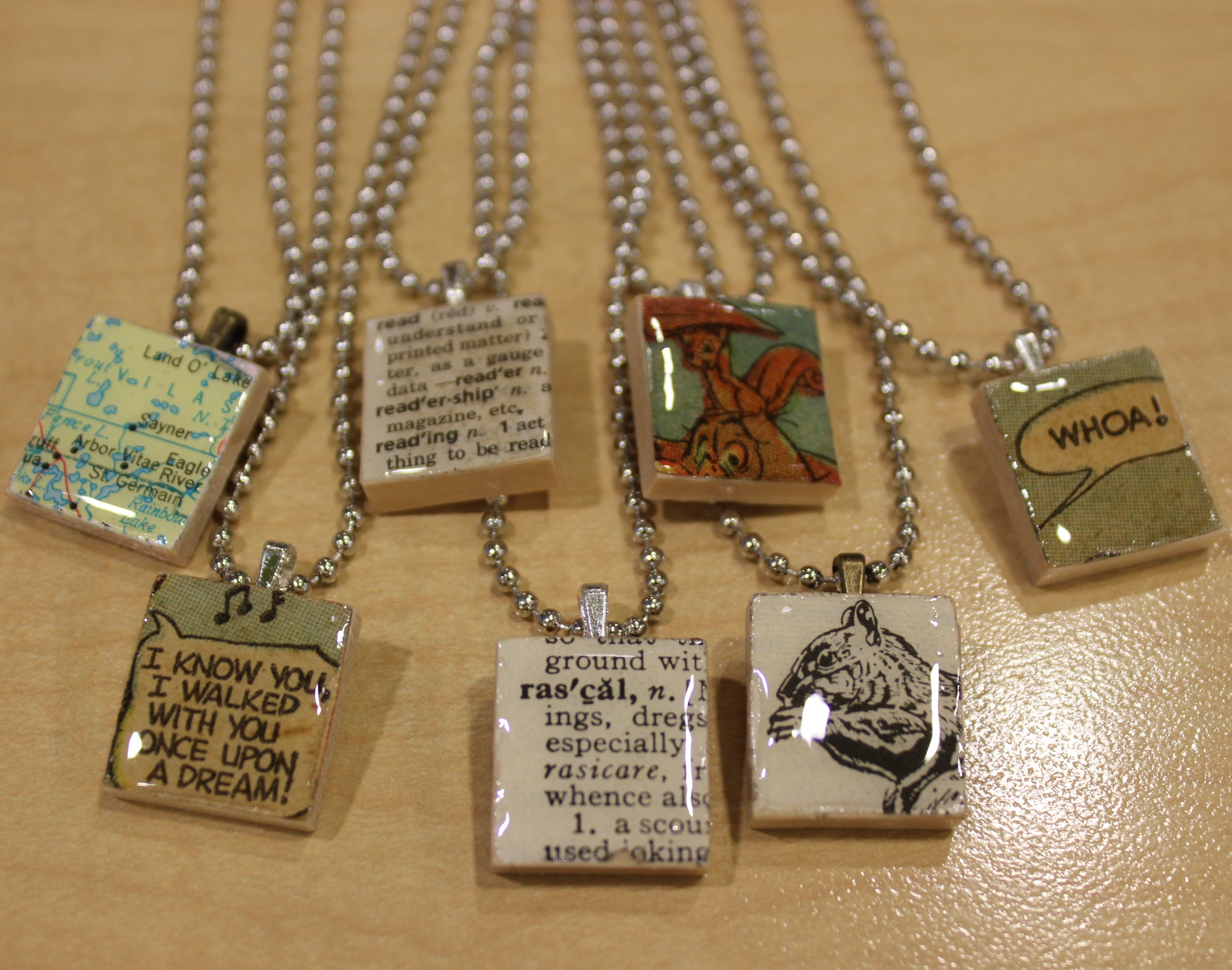 Scrabble Tile Pendant samples