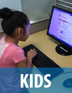 link to the children's section of the website