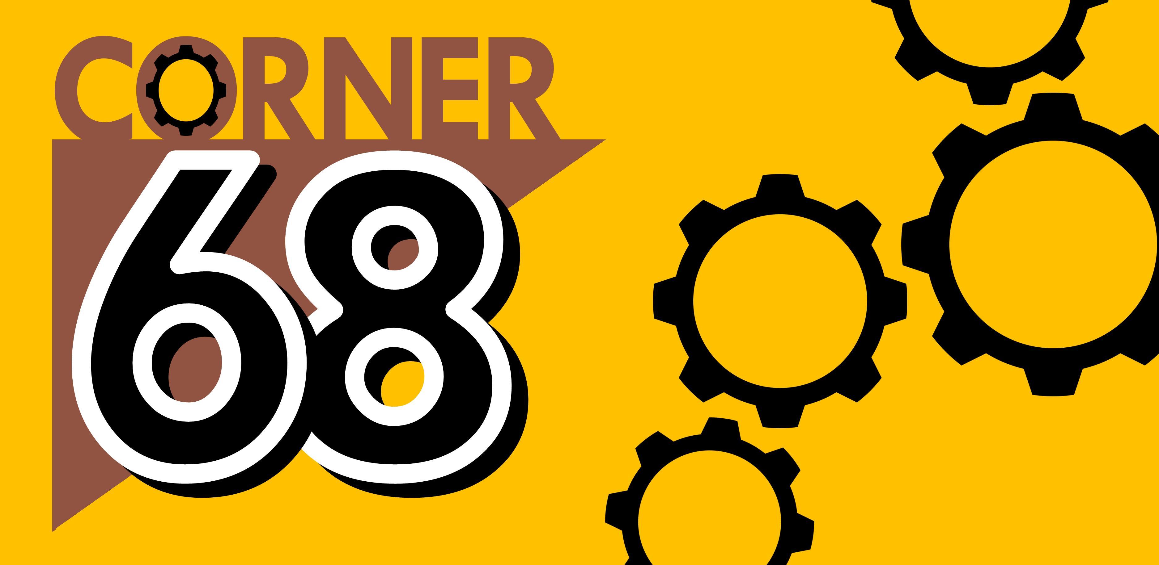 corner 68 logo/header