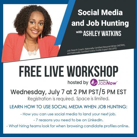 Social Media and Job Hunting flyer