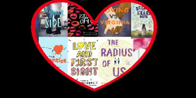 Collage of new teen romance books