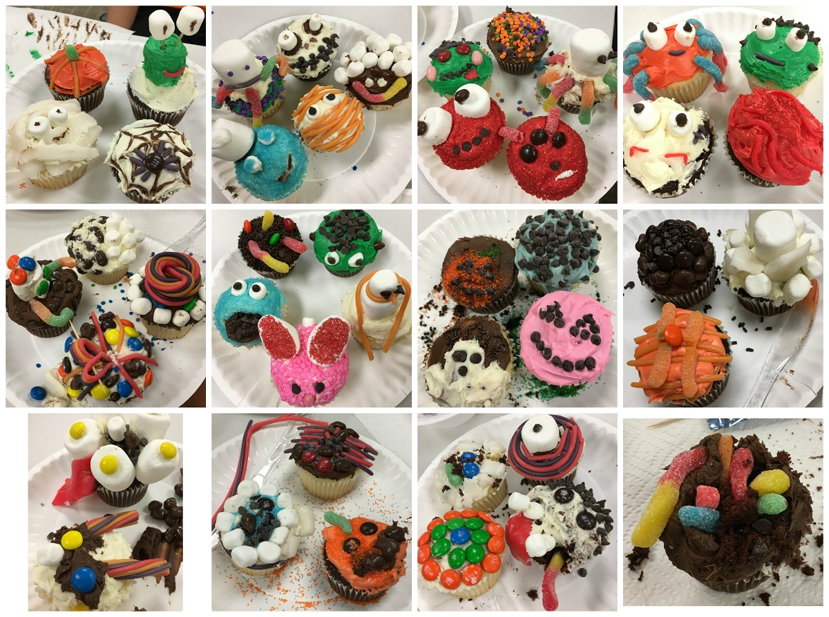 Collage of creep cakes made at 10/30 teen program
