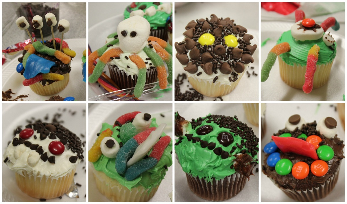 Collage of examples of creepcakes made by teens