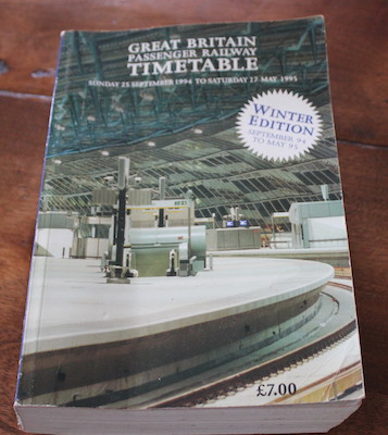 Great Britain Passenger Railway Timetable
