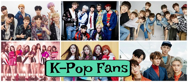 Collage of K-Pop groups: Exo, BTS, Seventeen, SHINee, Black Pink, Twice