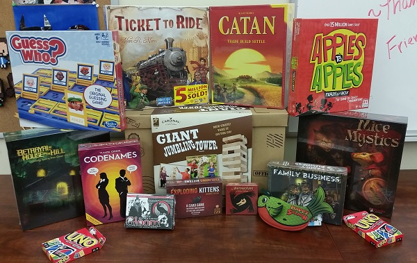 Board games: Guess Who?, Ticket to Ride, Settlers of Catan, Apples to Apples, and more
