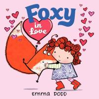 cover of Foxy in Love - child hugs a fox holding a heart balloon