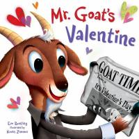 Mr. Goat's Valentine - goat holding a newspaper announcing it's Valentine's Day