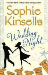 book cover for Wedding Night by Sophie Kinsella featuring a man and woman holding hands and running