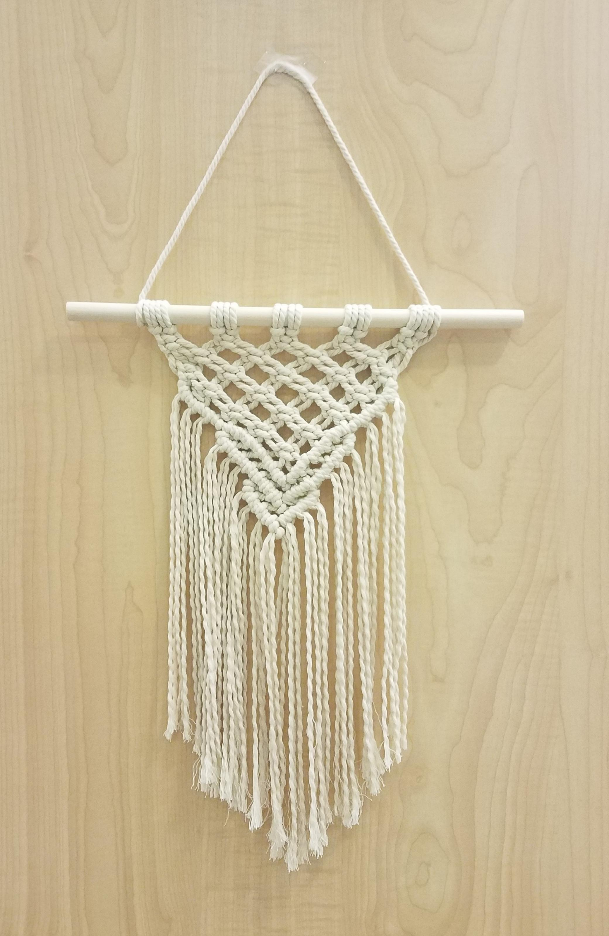 simple macrame wall hanging