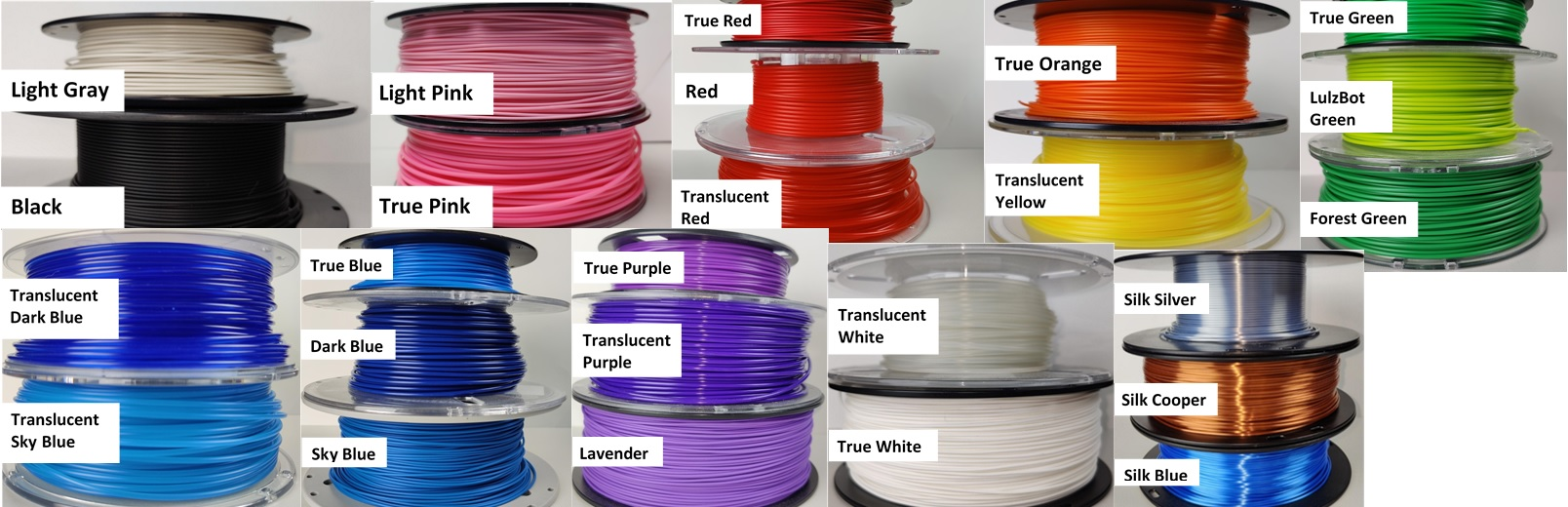 3D Filament Colors