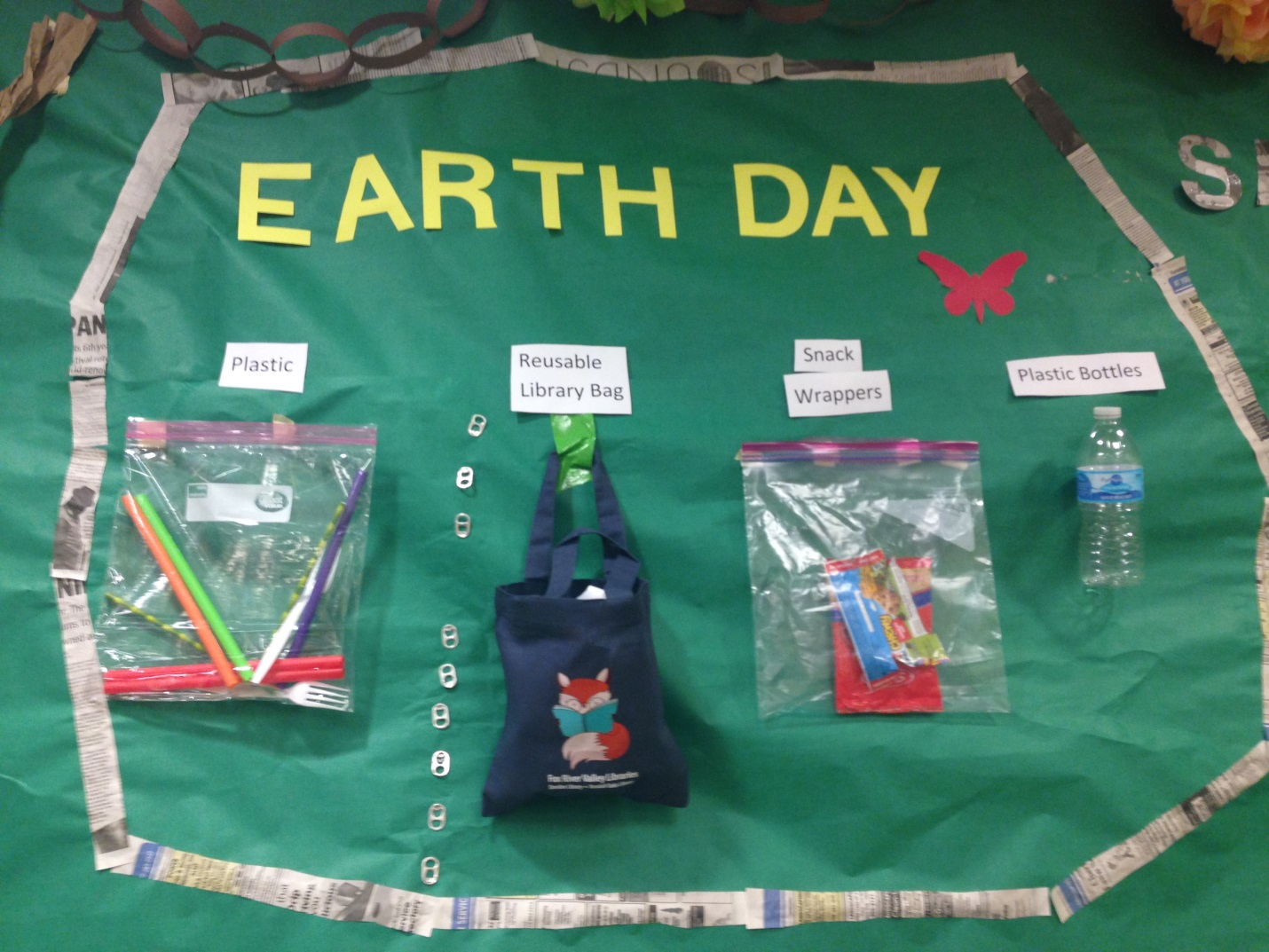 Earth Display Constructed With Recycled Materials