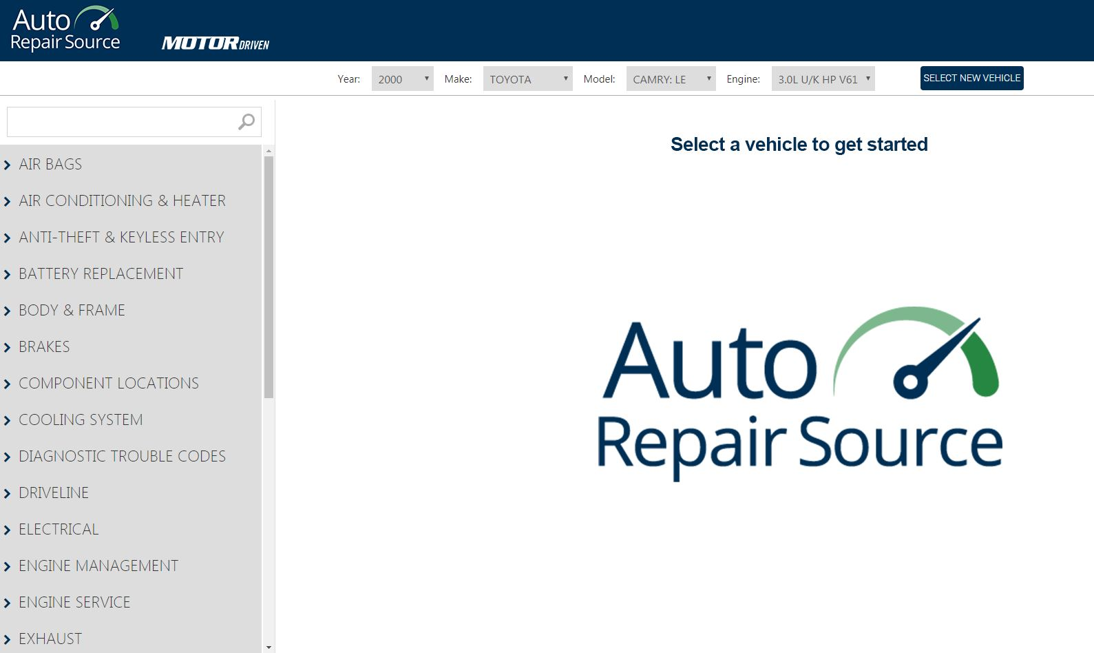 Auto Repair Source homepage