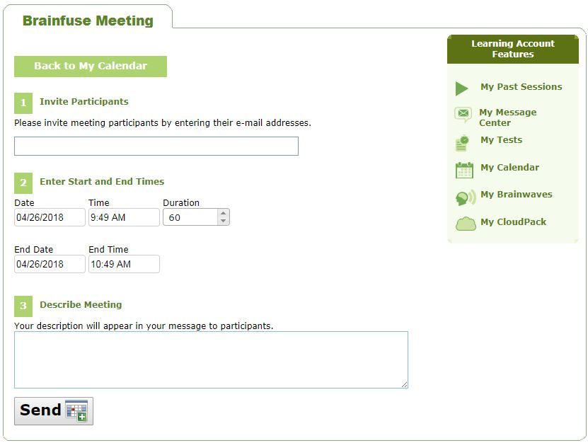 Screenshot of MEET page on Brainfuse website