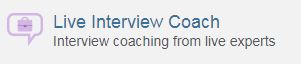Live interview coach icon on JobNow website