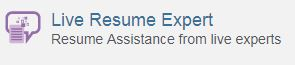 Live resume expert icon on JobNow website