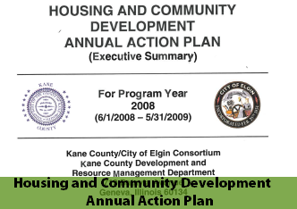 Cover page of 2008 Housing and Community Development Annual Action Plan