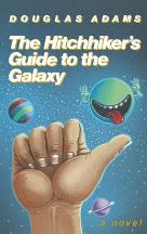 Cover art for The Hitchhiker's Guide to the Galaxy by Douglas Adams