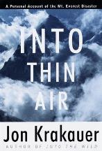 Cover art for Into Thin Air by Jon Krakauer