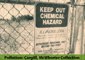 Photo of chemical hazard sign